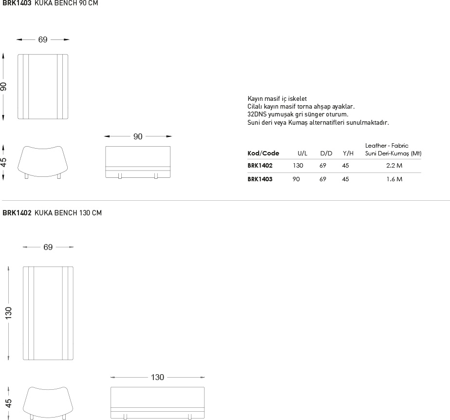 Kuka Bench - Teknik Çizim